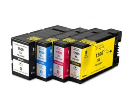 4 Tinteiros Compativeis, Canon PGI-1500 Preto 36ml + Cor 11.5ml