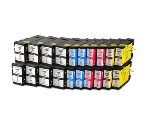 20 Tinteiros Compativeis, Canon PGI-1500 Preto 36ml + Cor 11.5ml