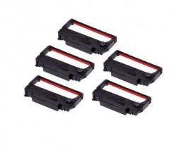 5 Fitas Compativeis, Epson ERC-38BK / R Preto / Vermelho