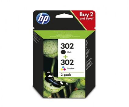 2 Tinteiros Originais, HP 302 Preto 3.5ml + Cor 4ml