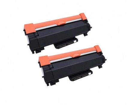 2 Toners Compativeis, Brother TN-2410 / TN-2420 Preto ~ 3.000 Paginas