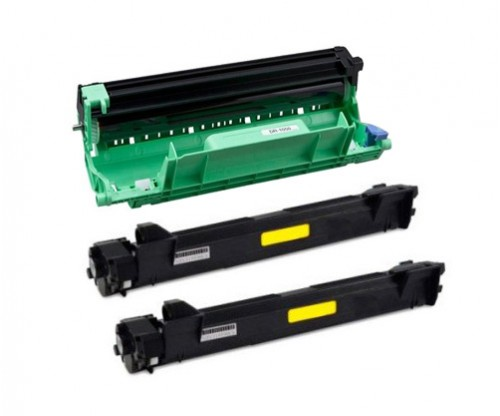 1 Tambor Compativel Brother DR-1050 Preto ~ 9.000 Paginas + 2 Toners Compativeis, Brother TN-1050 Preto ~ 1.000 Paginas