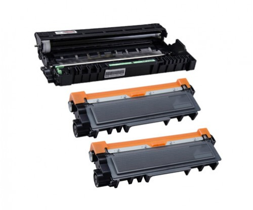 1 Tambor Compativel Brother DR-2300 Preto ~ 12.000 Paginas + 2 Toners Compativeis, Brother TN-2320 Preto ~ 2.600 Paginas