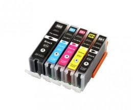 5 Tinteiros Compativeis, Canon PGI-580 / CLI-581 XXL Preto 25.7ml + Cor 11.7 ml