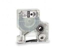 Fita Compativel DYMO 45010 Preto / Transparente 12mm x 7m