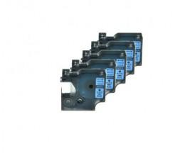5 Fitas Compativeis, DYMO 45016 Azul 12mm x 7m