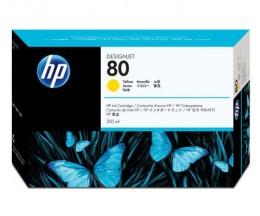 Cabeça de impressão Original HP 80 Amarelo e dispositivo de limpeza