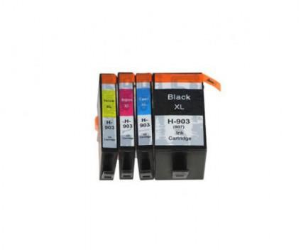 4 Tinteiros Compativeis, HP 903 XL / 907 XL Preto 37ml + Cor 14ml ~ 1.500 / 1.200 Paginas