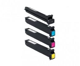 4 Toners Compativeis, Konica Minolta A0TMX50 Preto + Cor ~ 45.000 / 30.000 Paginas