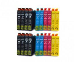 20 Tinteiros Compativeis, Epson T1631-T1634 / 16 XL Preto 17ml + Cor 11.6ml