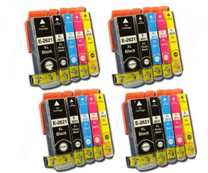 20 Tinteiros Compativeis, Epson T2621 / 26 XL Preto 26ml + T2631-T2634 Cor 13ml