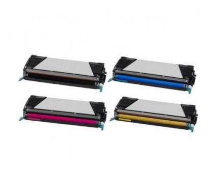 4 Toners Compativeis, Lexmark C734A1 / C736H1 ~ 8.000 / 6.000 Paginas