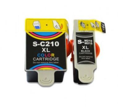 2 Tinteiros Compativeis, Samsung M-215 Preto 20ml + C-210 Cor 40ml