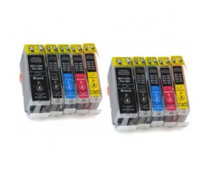 10 Tinteiros Compativeis, Canon BCI-3 / BCI-6 Preto 26.8ml + Cores 13.4ml