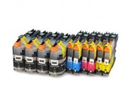10 Tinteiros Compativeis, Brother LC-121 / LC-123 Preto 20.6ml + Cor 10ml
