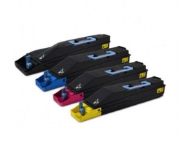 4 Toners Compativeis, Kyocera TK 855 Preto + Cor ~ 25.000 / 18.000 Paginas