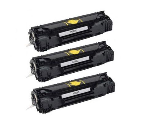 3 Toners Compativeis, HP 83A Preto ~ 1.500 Paginas