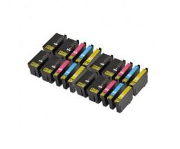20 Tinteiros Compativeis, Epson T2701-T2704 / T2711-T2714 / 27 XL Preto 22.4ml + Cor 15ml
