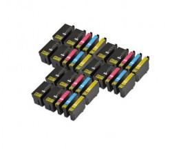 30 Tinteiros Compativeis, Epson T2701-T2704 / T2711-T2714 / 27 XL Preto 22.4ml + Cor 15ml