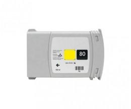 Tinteiro Compativel HP 80 Amarelo 400ml