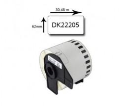 Etiqueta Compativel Brother DK22205 62mm x 30.48m Rolo Branco
