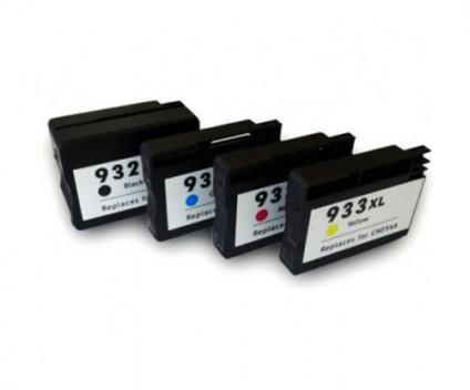 4 Tinteiros Compativeis, HP 932XL / 933XL Preto 40ml + Cor 14ml