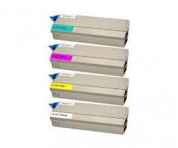 4 Toners Compativeis, OKI 413042XX ~ 10.000 Paginas