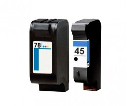 2 Tinteiros Compativeis, HP 78 Cor 39ml + HP 45 Preto 40ml