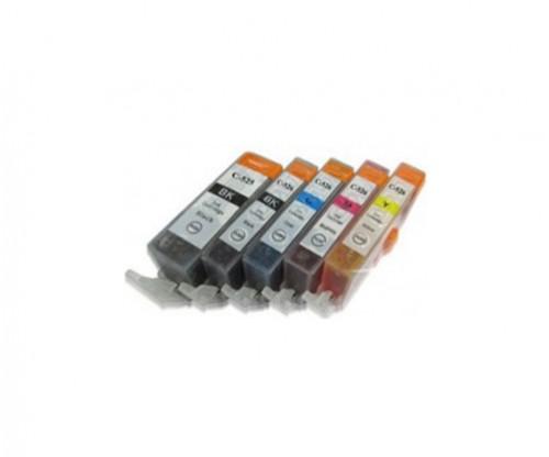 5 Tinteiros Compativeis, Canon PGI-525 / CLI-526 Preto 19.4ml + Cor 9ml
