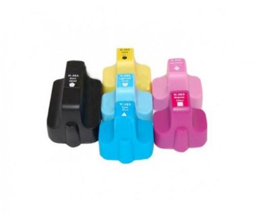 6 Tinteiros Compativeis, HP 363 Preto 30ml + Cor 10ml
