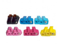 12 Tinteiros Compativeis, HP 363 Preto 30ml + Cor 10ml