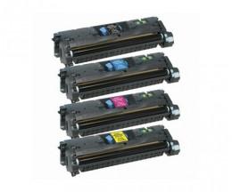 4 Toners Compativeis, HP 121A / HP 122A Preto + Cor ~ 5.000 / 4.000 Paginas
