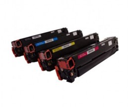 4 Toners Compativeis, HP 125A Preto + Cor ~ 2.200 / 1.400 Paginas
