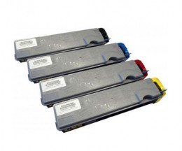 4 Toners Compativeis, Kyocera TK 520 Preto + Cor ~ 6.000 / 4.000 Paginas