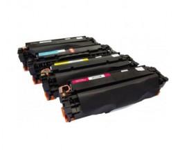 4 Toners Compativeis, Canon EP-718 Preto + Cor 4.400 / 2.800 Paginas