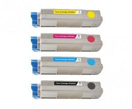4 Toners Compativeis, OKI 4332442X Preto + Cor ~ 6.000 / 5.000 Paginas