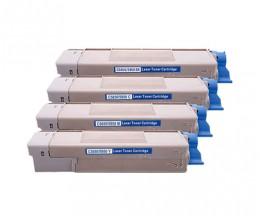 4 Toners Compativeis, OKI 4386572X ~ 6.000 Paginas