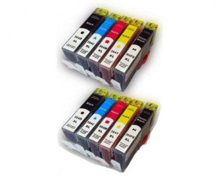 10 Tinteiros Compativeis, HP 364 XL Preto 18.6ml + Cor 14.6ml