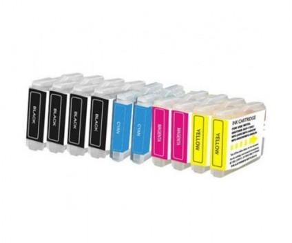 10 Tinteiros Compativeis, Brother LC-970 XL / LC-1000 XL Preto 36ml + Cor 26.6ml