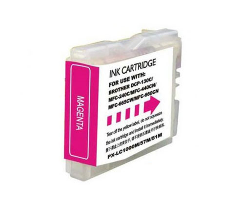 Tinteiro Compativel Brother LC-970 XL M / LC-1000 XL M Magenta 26.6ml