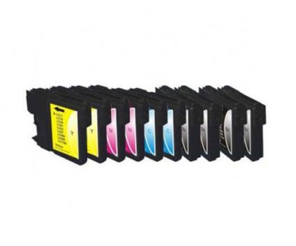 10 Tinteiros Compativeis, Brother LC-980 XL / LC-1100 XL Preto 28ml + Cor 18ml
