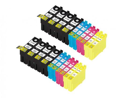 20 Tinteiros Compativeis, Epson T1301-T1304 Preto 33ml + Cor 14ml