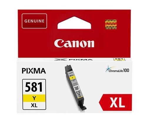 Tinteiro Original Canon CLI-581 XL Amarelo 8.3ml