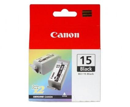 2 Tinteiros Originais, Canon BCI-15 Preto 5.3ml