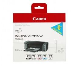 5 Tinteiros Originais, Canon PGI-72 PBK / GY / PM / PC / CO 14ml