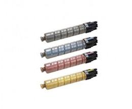 4 Toners Compativeis, Ricoh 82107X / 82109X Preto + Cor ~ 15.000 Paginas