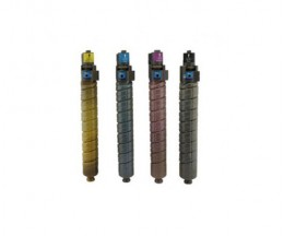 4 Toners Compativeis, Ricoh 88493X / 8886XX Preto + Cor ~ 23.000 / 17.000 Paginas