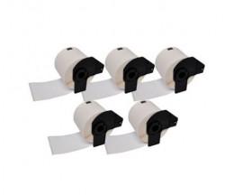 5 Etiquetas Compativeis, Brother Rolo DK11241 102mm x 152mm 200 / Rolo Branco