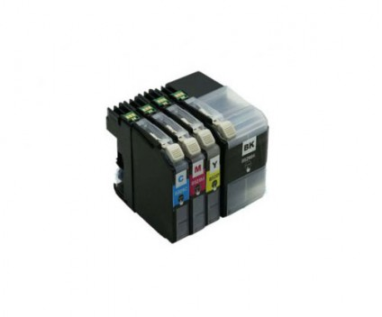 4 Tinteiros Compativeis, Brother LC-529 XL Preto + LC-525 XL Cor ~ 2.600 / 1.500 Páginas