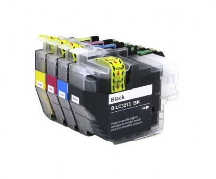 4 Tinteiros Compativeis, Brother LC3211 / LC3213 Preto + Cores ~ 400 Paginas